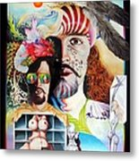Selfportrait With The Critical Eye Metal Print by Otto Rapp