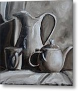 Sepia Still Life Metal Print by Donna Tuten