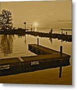 Sepia Sunset Metal Print by Frozen in Time Fine Art Photography