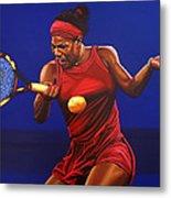 Serena Williams Painting Metal Print by Paul Meijering