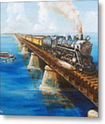 Seven Mile Bridge Metal Print by Christopher Jenkins