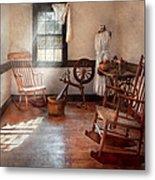 Sewing - Room - Grandma's Sewing Room Metal Print by Mike Savad