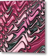 Shades Of Pink And Red Decorative Design Metal Print by Matthias Hauser