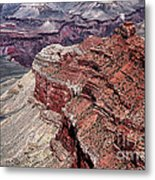Shades Of Red In The Canyon Metal Print by John Rizzuto