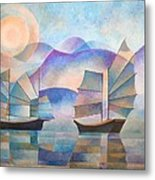 Shades Of Tranquility Metal Print by Tracey Harrington-Simpson