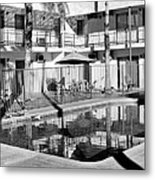 Shadows In Paradise Palm Springs Metal Print by William Dey