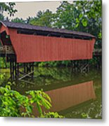 Shaeffer Or Campbell Covered Bridge Metal Print by Jack R Perry