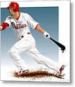 Shane Victorino Metal Print by Scott Weigner