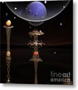 Shared Visions With Max Planck Metal Print by Peter R Nicholls