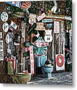 Shed Toilet Bowls And Plaques In Seligman Metal Print by RicardMN Photography