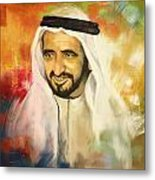 Sheikh Rashid Bin Saeed Al Maktoum Metal Print by Corporate Art Task Force