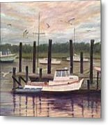 Shem Creek Metal Print by Ben Kiger