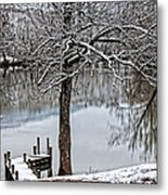 Shenandoah Winter Serenity Metal Print by Lara Ellis