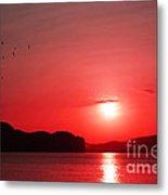Shepherd's Delight Sunset Metal Print by Kaye Menner