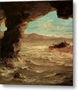 Shipwreck On The Coast Metal Print by Eugene Delacroix