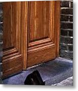 Shoes At Door Metal Print by Mark Goebel