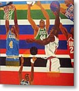 Shoots N Hoops Metal Print by Leslye Miller
