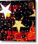 Shop Window On Christmas Eve Metal Print by Terril Heilman