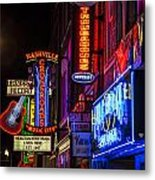 Signs Of Music Row Nashville Metal Print by John McGraw
