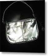 Silver Bag With Rose Locket Metal Print by Robert Cunningham