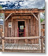 Silver Canyon Saloon Metal Print by Cat Connor