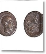 Silver Drachm 3.4 Gr From Philstia Metal Print by Science Photo Library