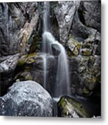 Silver Waterfall Metal Print by Carlos Caetano