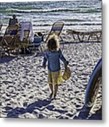 Simpler Times 2 - Miami Beach - Florida Metal Print by Madeline Ellis