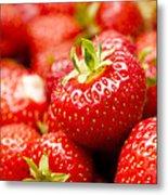 Simply Strawberries Metal Print by Anne Gilbert