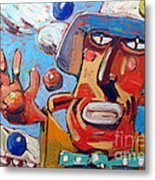 Single Handed Juggling At The Big Top Metal Print by Charlie Spear