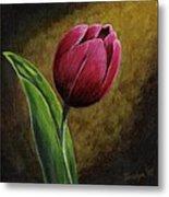 Single Tulip Metal Print by Jesslyn Fraser