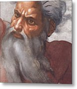 Sistine Chapel Ceiling Creation Of The Sun And Moon Metal Print by Michelangelo Buonarroti
