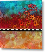 Sizzle Abstract Floral Art Metal Print by Ann Powell