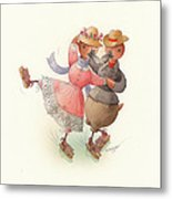 Skating Ducks 11 Metal Print by Kestutis Kasparavicius
