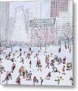 Skating Rink Central Park New York Metal Print by Judy Joel