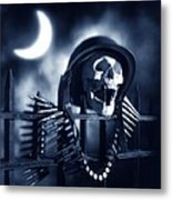 Skull Metal Print by Tony Cordoza