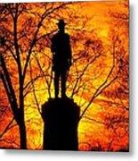 Sky Fire - Flames Of Battle 50th Pennsylvania Volunteer Infantry-a1 Sunset Antietam Metal Print by Michael Mazaika