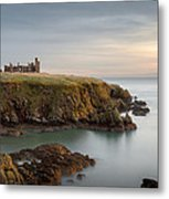 Slains Castle Sunrise Metal Print by Dave Bowman
