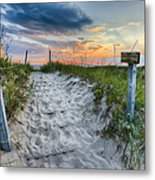 Sleeping Bear National Lakeshore Sunset Metal Print by Sebastian Musial