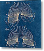 Slinky Toy Blueprint Metal Print by Edward Fielding