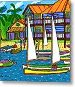Small Boat Regatta - Cedar Key Metal Print by Mike Segal