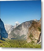 Small Clouds Over The Half Dome Metal Print by Jane Rix