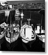 small fishing boats in bunbeg harbour county Donegal Republic of Ireland Metal Print by Joe Fox