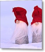 Small Santa Claus Metal Print by Toppart Sweden