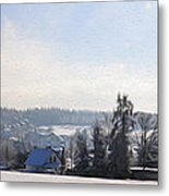 Small Village Metal Print by Aged Pixel
