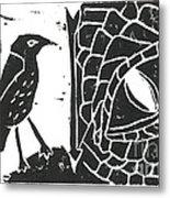 Smaug And The Thrush Metal Print by Lynn-Marie Gildersleeve