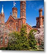 Smithsonian Castle Wall Metal Print by Inge Johnsson