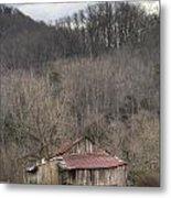 Smoky Mountain Barn 1 Metal Print by Douglas Barnett