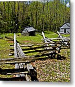 Smoky Mountain Cabins Metal Print by Paul W Faust -  Impressions of Light