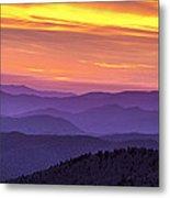 Smoky Sunset Panorama Metal Print by Andrew Soundarajan